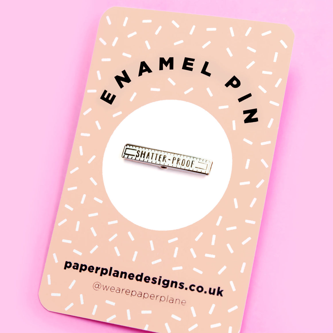 Shatter-proof Enamel Pin Badge