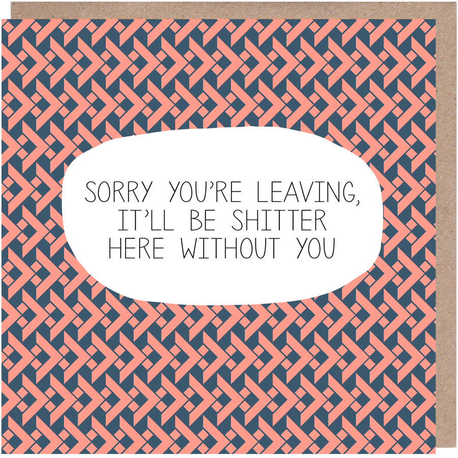 funny leaving card