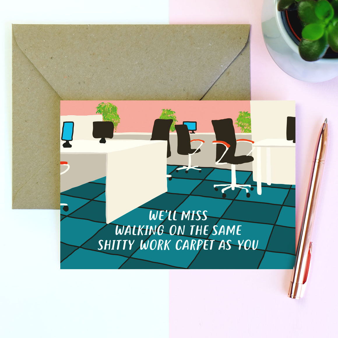 Shitty Carpet Sorry You're Leaving Card