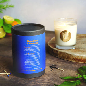 Sicilian lime, mandarin and bergamot, basil, caraway, patchouli and vetivert candle