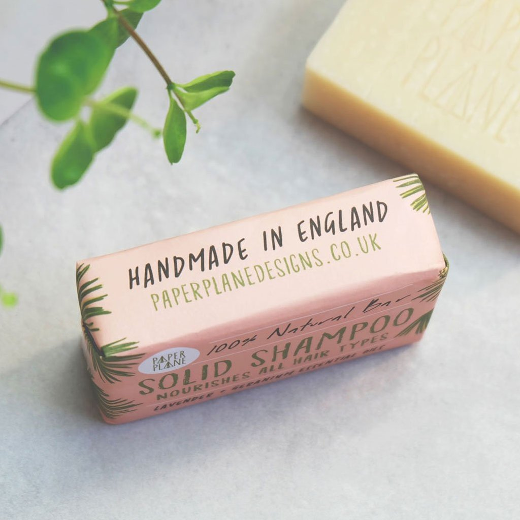 Lavender and Geranium 100% Natural Vegan Plastic-free Solid Shampoo