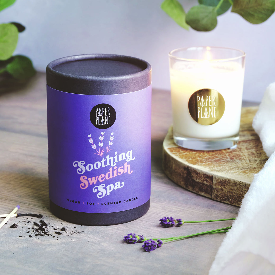 Soothing Swedish Spa Vegan Soy Candle
