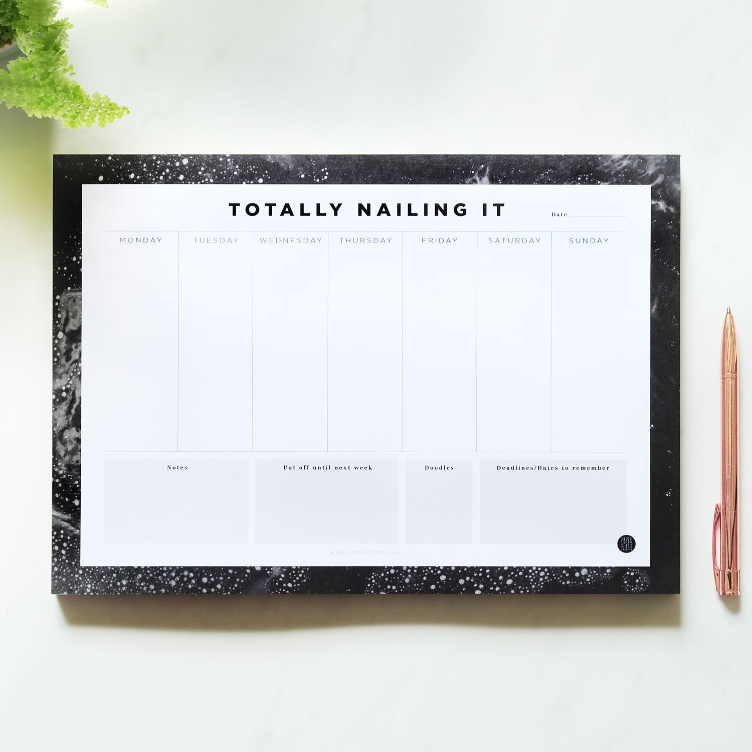 Totally Nailing It Desk Planner
