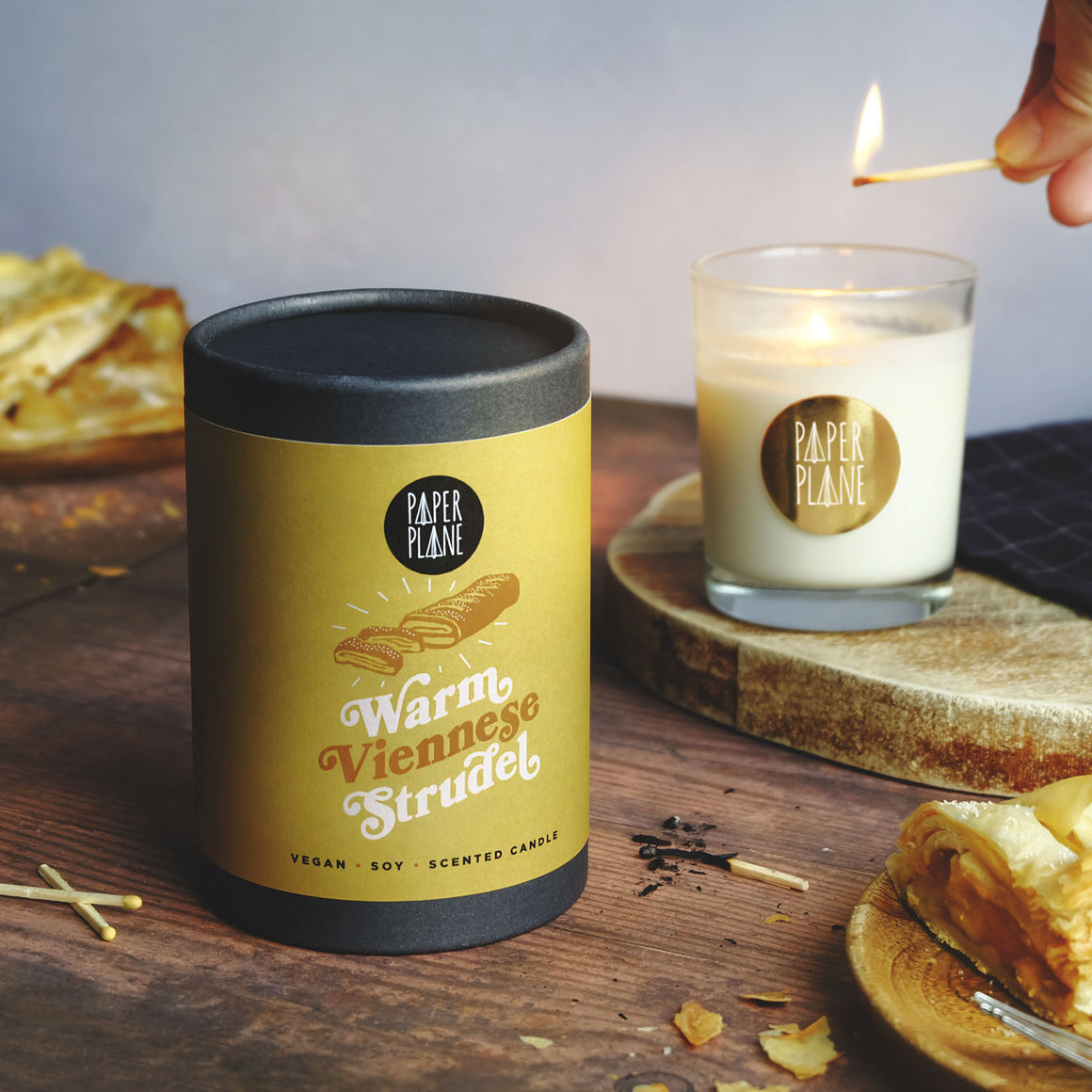 Warm Viennese Apple Strudel Vegan Soy Candle