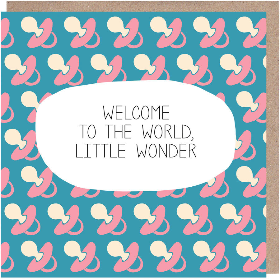 Welcome To The World, Little Wonder New Baby Card