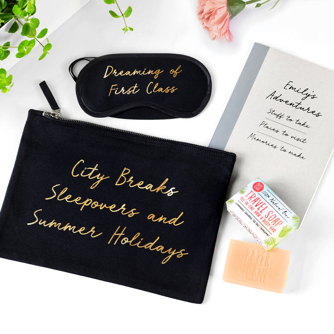 personalised travel set