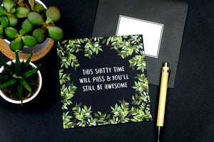 shitty time sympathy card