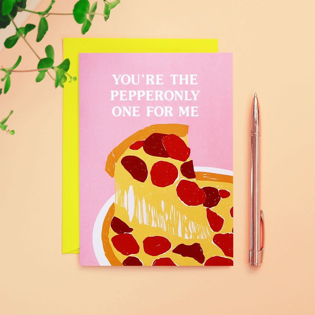 pepperoni pizza card