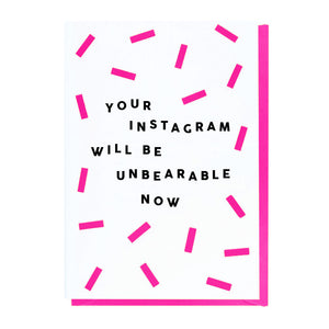 Your Instagram Will Be Unbearable Now - New Baby Card