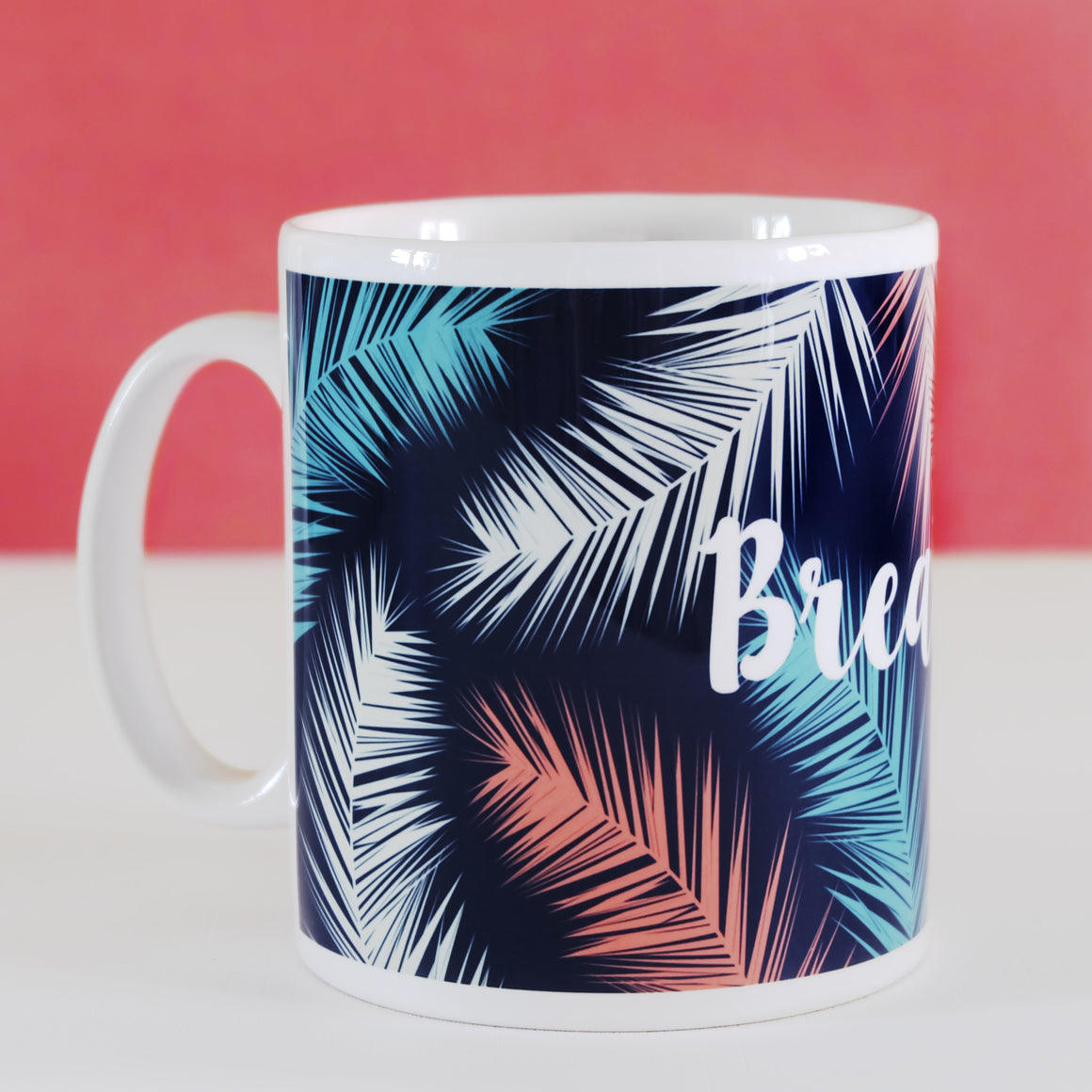 Breathe Palm Leaf Botanical Mug