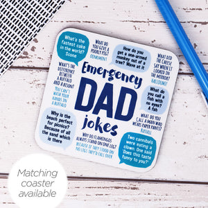 Emergency Dad Jokes Coaster