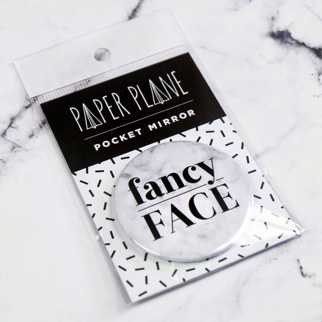 Fancy Face Pocket Mirror/Badge/Bottle Opener