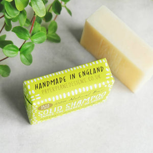 Peppermint and Eucalyptus 100% Natural Vegan Plastic-free Solid Shampoo
