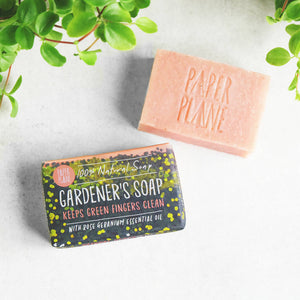 Rose Geranium Gardener's Soap 100% Natural Vegan