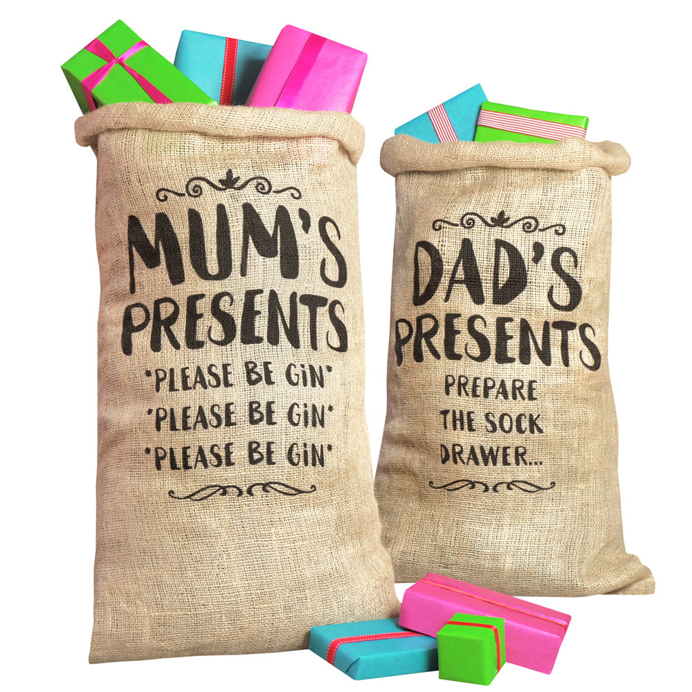 Mum & Dad Christmas Sacks