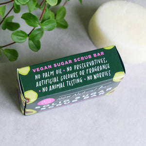 Avocado Sugar Scrub Bar 100% Natural Vegan