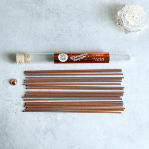 Christmas Incense - Cinnamon and Amber - in a Test Tube