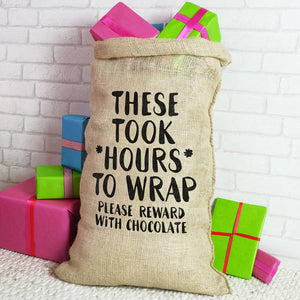 Reward With Chocolate Christmas Sack