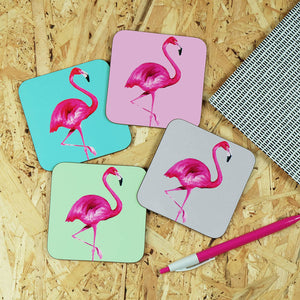 flamingo coasters