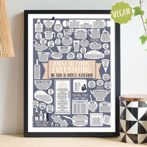 Personalised How To Cook Everything Vegan Framed Print