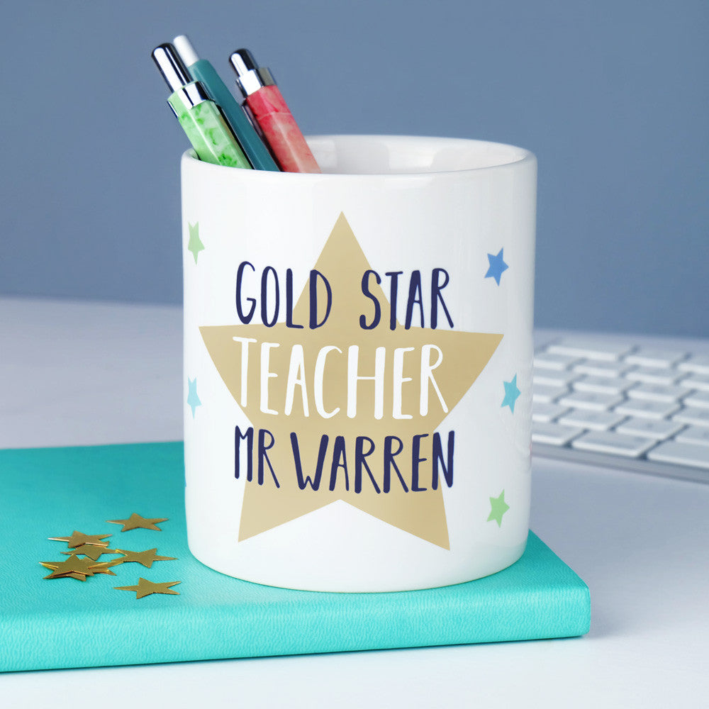 star teacher pen pot