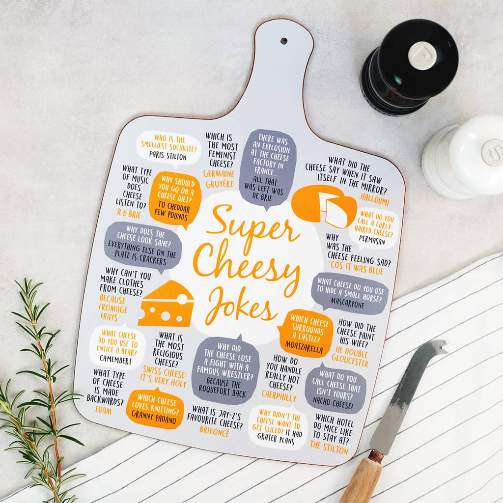 cheesy jokes cheese board