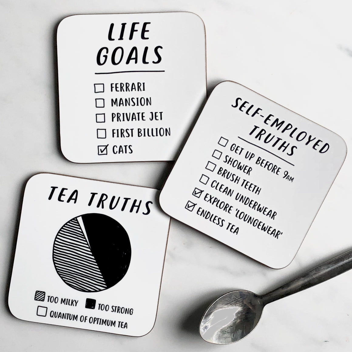 self employed truths coaster