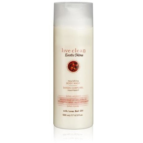 Live Clean exotic shine - bali oil body wash 500ml - Hairlight Hair & Beauty