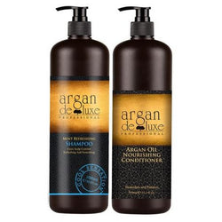 Argan De Luxe  Mint Shampoo/Conditioner Duo 1lt - Hairlight Hair & Beauty