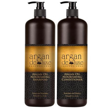 Argan De Luxe Nourishing Shampoo/Conditioner Duo 1lt - Hairlight Hair & Beauty