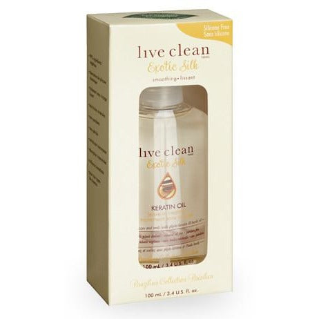 Live Clean Exotic Silk Keratin Oil Treatment 100ml - Hairlight Hair & Beauty
