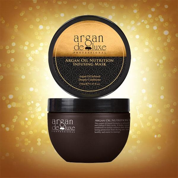 Argan Deluxe Argan Oil Nutrition Infusing Mask 250ml - Hairlight Hair & Beauty