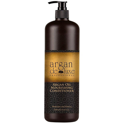 Argan Deluxe Professional Argan Oil Nourishing Conditioner, 300ml & 1Lt - Hairlight Hair & Beauty