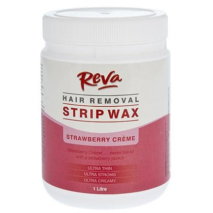 Reva Strawberry Strip Wax – Hair Removal Wax 1Lt - Hairlight Hair & Beauty