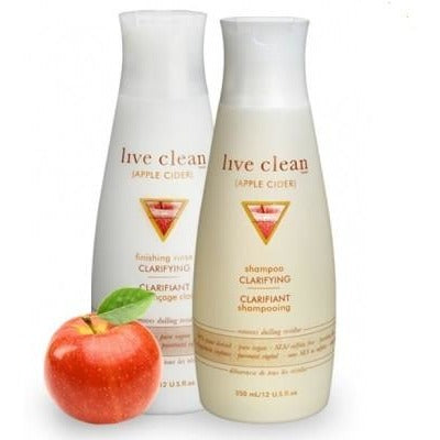 Live Clean apple cider vinegar - clarifying finishing rinse 350ml - Hairlight Hair & Beauty