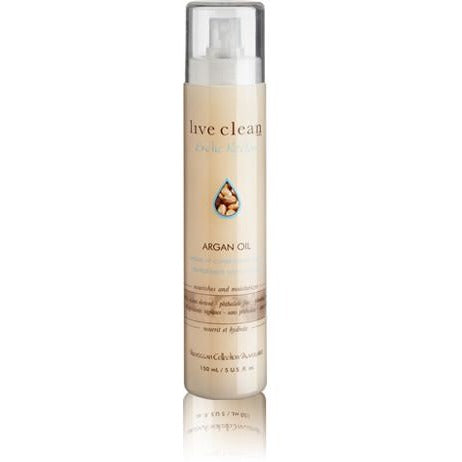Live Clean exotic nectar  Argan oil leave in spray 150ml - Hairlight Hair & Beauty