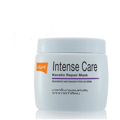 Lolane Intense Care Keratin Repair Mask 200gm for Hair Damaged by Colouring - Hairlight Hair & Beauty