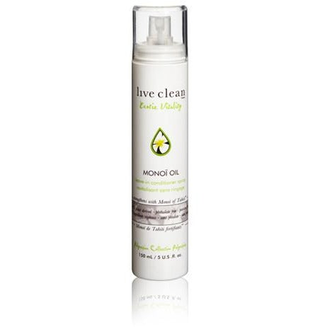 Live Clean exotic vitality monoï oil strengthening leave in spray 150ml - Hairlight Hair & Beauty