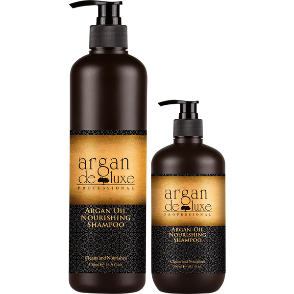 Argan Deluxe Professional Argan Oil Nourishing Shampoo, 300ml & 1Lt - Hairlight Hair & Beauty