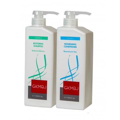GKMBJ Restoring Shampoo & Conditioner Duo 1Lt - Hairlight Hair & Beauty
