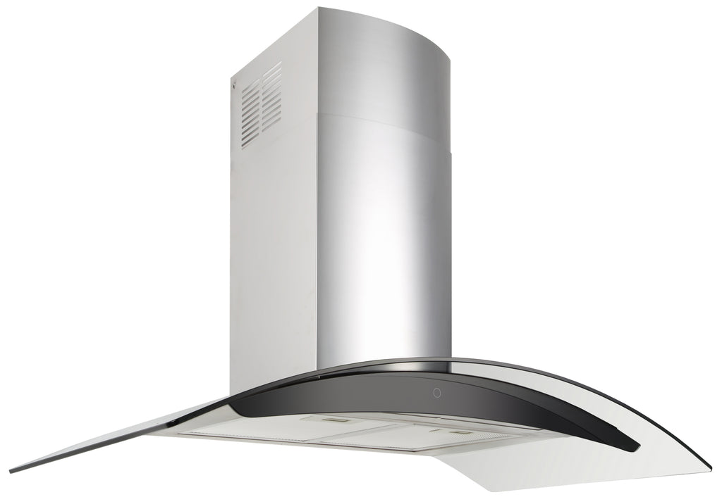 CURVED GLASS CANOPY RANGEHOOD - 900MM
