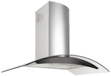CURVED GLASS Q SERIES RANGEHOOD - 900MM