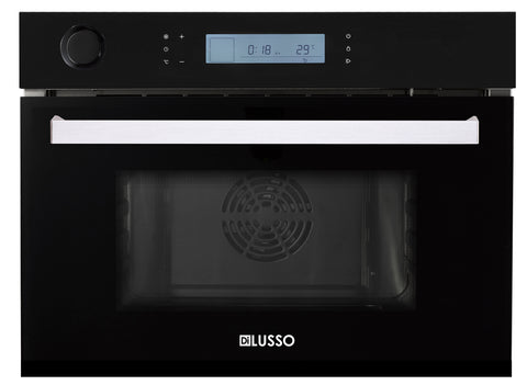 BUILT IN COMBI STEAM OVEN - BLACK GLASS