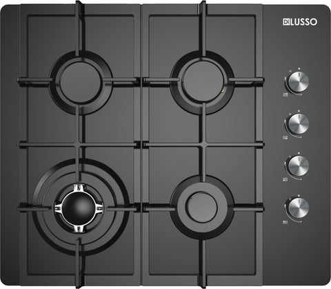 GAS COOKTOP - 600MM BLACK GLASS