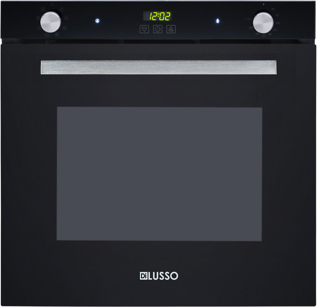 ELECTRIC OVEN - 600MM 75L BLACK GLASS 7 FUNCTION