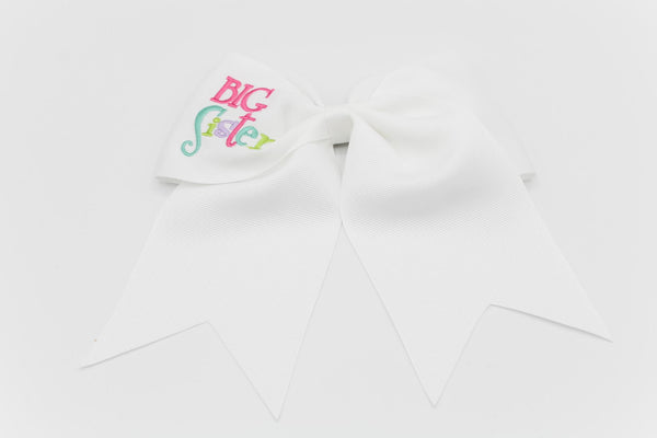 EMBROIDERED CHEER BOW