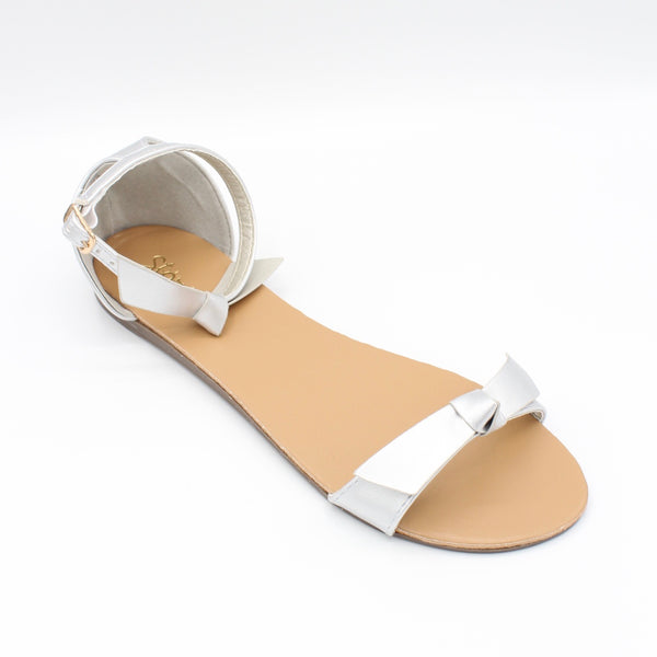 Silver colored Koko sandal