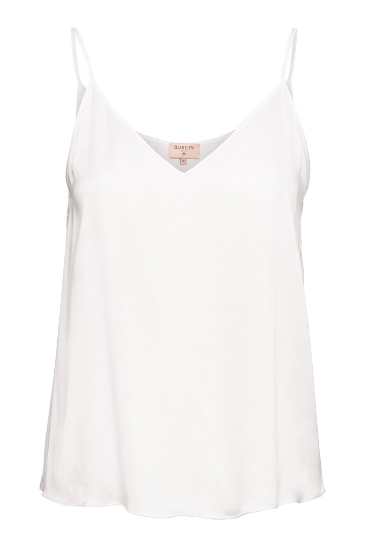 Aimee Singlet Silk Off-White
