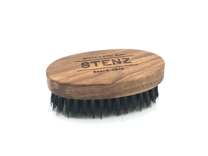 Beard Brush oval groß