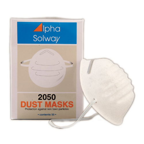 An inexpensive mask offers non-respiratory protection against coarse, non-toxic particles e.g. dusts and pollens i.e. nuisance dust below the Workplace Exposure Level (WEL), or to protect the end product from being contaminated by the mask user.  These masks do not provide respiratory protection against; fine, lung-damaging, toxic particulates, gases, vapours, pain spray etc.  Only use for situations where particles are below the Occupational Exposure Limit